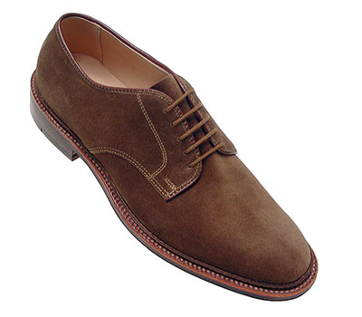 Unlined Suede Plain Toe Blucher